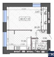 Новые Метры Park. 1-х комнатная квартира 43 м2!